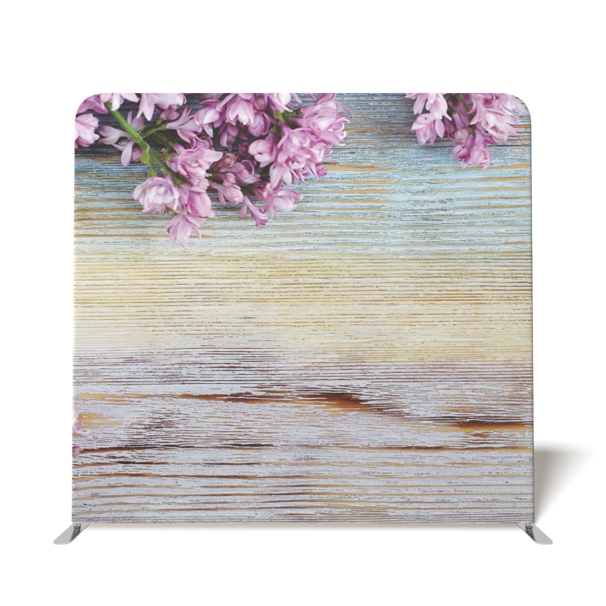 Wooden With Pink Flowers 2