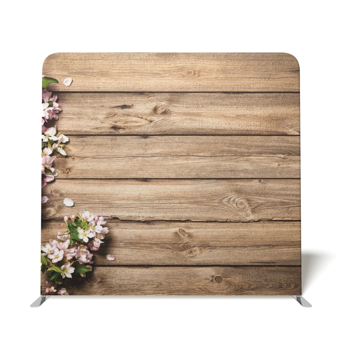Wooden With Pink Flowers